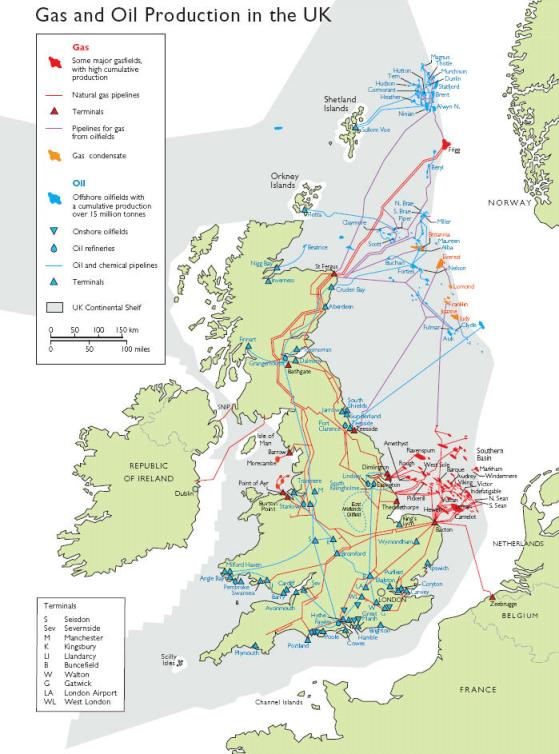Map Of Uk Oil Fields.Oil Fields Uk Who Discovered Crude Oil